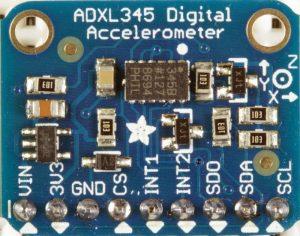 Raspberry Pi Accelerometer using the ADXL345